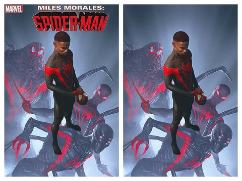 MILES MORALES SPIDER-MAN #25 RAHZZAH ULTIMATE FALLOUT 4 HOMAGE TRADE/VIRGIN VARIANT SET LIMITED TO 1000 SETS