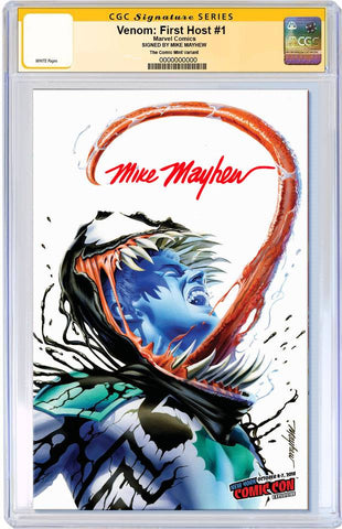 VENOM FIRST HOST #1 MIKE MAYHEW VARIANT NYCC VARIANT LIMITED TO 1000 CGC SS PREORDER