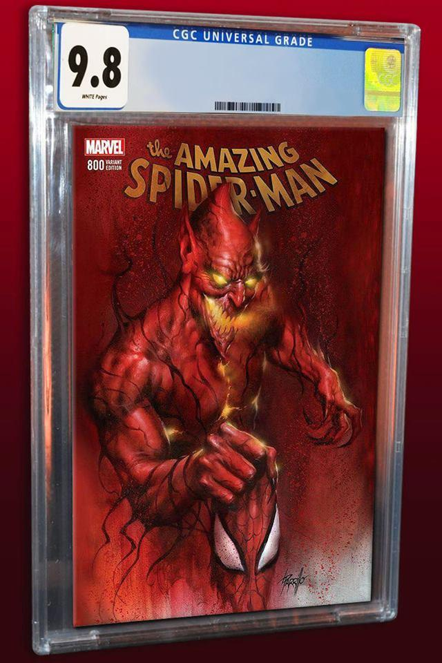 AMAZING SPIDER-MAN #800 LUCIO PARRILLO RED GOBLIN TRADE DRESS VARIANT LIMITED TO 3000 CGC 9.8 PREORDER