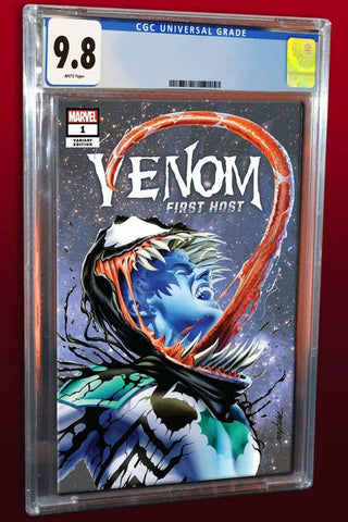 VENOM FIRST HOST #1 MIKE MAYHEW VARIANT '1ST APP OF TEL-KAR' TRADE DRESS VARAINT LIMITED TO 3000 CGC 9.8 PREORDER