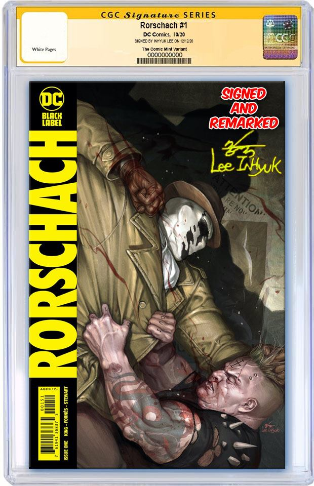 RORSCHACH #1 INHYUK LEE VARIANT LIMITED TO 600 COPIES WITH NUMBERED COA CGC REMARK PREORDER
