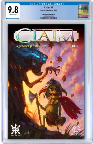 CLAIM SONG OF IRE AND VICE #1 AARON BARTLING TRADE DRESS VARIANT LIMITED TO 500 CGC 9.8 PREORDER