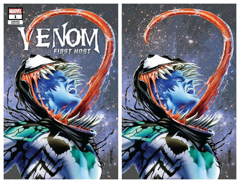 VENOM FIRST HOST #1 MIKE MAYHEW VARIANT '1ST APP OF TEL-KAR' TRADE/VIRGIN SET LIMITED TO 700 SETS