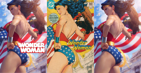 WONDER WOMAN #750 ARTGERM TRADE/GOLDEN AGE VIRGIN 3 COVER VARIANT SET