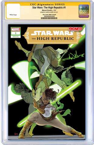 STAR WARS HIGH REPUBLIC #1 AARON KUDER VARIANT LIMITED TO 600 WITH NUMBERED COA CGC SS PREORDER