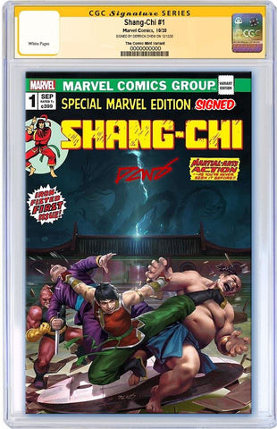 SHANG-CHI #1 DERRICK CHEW HOMAGE VARIANT LIMITED TO 1000 COPIES WITH NUMBERED COA CGC SS PREORDER
