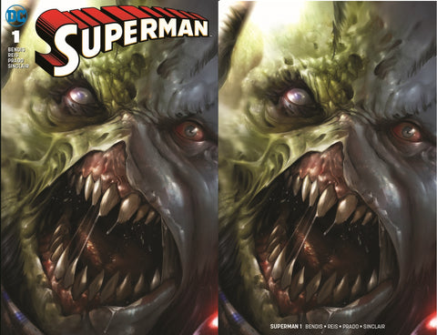 SUPERMAN #1 FRANCESCO MATTINA ROGOL ZAAR FULL/MINIMAL TRADE DRESS VARIANT SET LIMITED TO 600 SETS