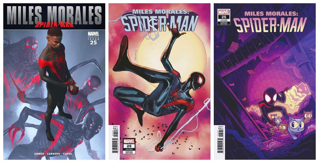 MILES MORALES #25 RAHZZAH ULTIMATE FALLOUT #4 TRUE HOMAGE VARIANT LIMITED TO 1500 COPIES, 1:25 PICHELLI & 1:50 HIPP VARIANT