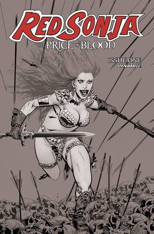 RED SONJA PRICE OF BLOOD #1 1:10 GOLDEN BW VARIANT