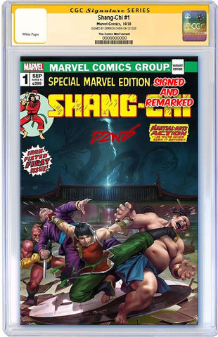 SHANG-CHI #1 DERRICK CHEW HOMAGE VARIANT LIMITED TO 1000 COPIES WITH NUMBERED COA CGC REMARK PREORDER