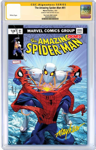 *AMAZING SPIDER-MAN #61 MIKE MAYHEW ASM 238 HOMAGE VARIANT LIMITED TO 800 WITH NUMBERED COA CGC SS PREORDER