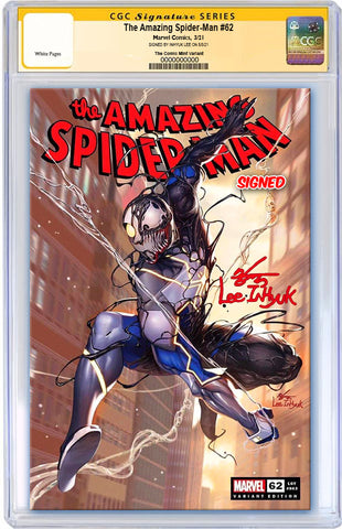 AMAZING SPIDER-MAN #62 INHYUK LEE VARIANT LIMITED TO 800 WITH COA CGC SS PREORDER