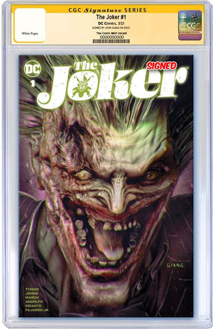 JOKER #1 JOHN GIANG VARIANT LIMITED TO 1000 WITH NUMBERED COA CGC SS PREORDER