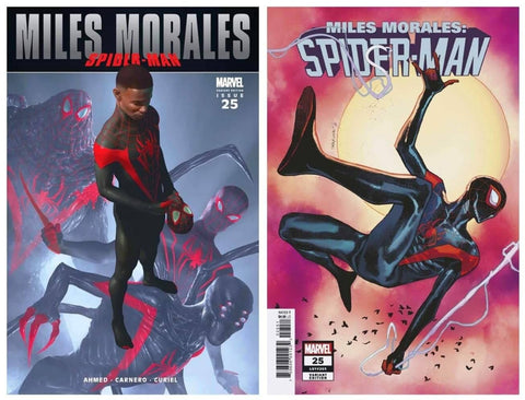 MILES MORALES #25 RAHZZAH ULTIMATE FALLOUT #4 TRUE HOMAGE VARIANT LIMITED TO 1500 COPIES & 1:25 PICHELLI VARIANT