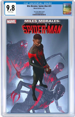MILES MORALES SPIDER-MAN #25 RAHZZAH ULTIMATE FALLOUT 4 HOMAGE TRADE DRESS VARIANT LIMITED TO 3000 CGC 9.8 PREORDER