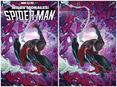 MILES MORALES SPIDER-MAN #19 SKAN SRISUWAN ASM #300 HOMAGE TRADE/VIRGIN VARIANT SET