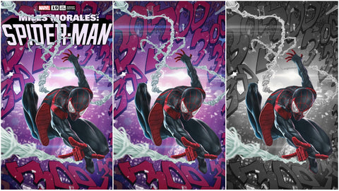 MILES MORALES SPIDER-MAN #19 SKAN SRISUWAN ASM #300 HOMAGE TRADE/VIRGIN/COLOUR SPLASH  VARIANT SET