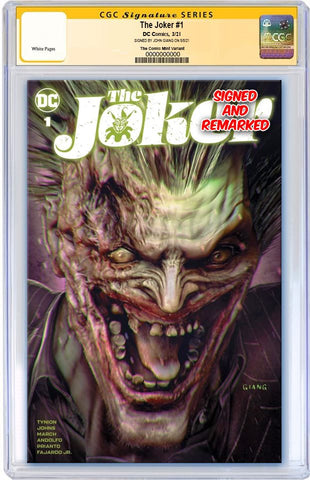 JOKER #1 JOHN GIANG VARIANT LIMITED TO 1000 WITH NUMBERED COA CGC REMARK PREORDER