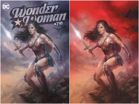 WONDER WOMAN #750 LUCIO PARRILLO EXCLUSIVE TRADE/VIRGIN VARIANT SET LIMITED TO 1500 SETS