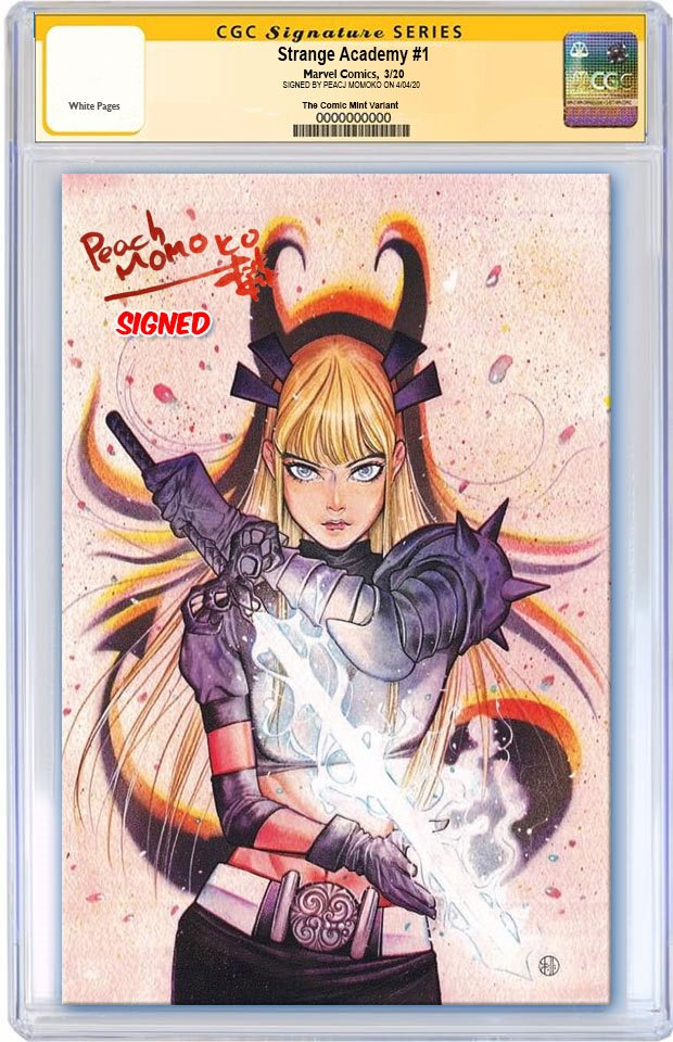 STRANGE ACADEMY #1 PEACH MOMOKO VIRGIN VARIANT LIMITED TO 600 CGC SS PREORDER