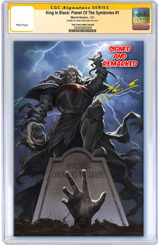 KING IN BLACK PLANET OF SYMBIOTES #1 SKAN SRISUWAN VIRGIN VARIANT LIMITED TO 800 WITH COA CGC REMARK PREORDER