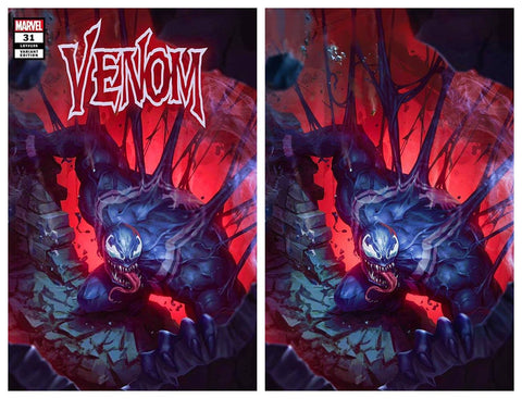 VENOM #31 WOO CHUL LEE TRADE/VIRGIN VARIANT SETS LIMITED TO 600 SETS WITH NUMBERED COA
