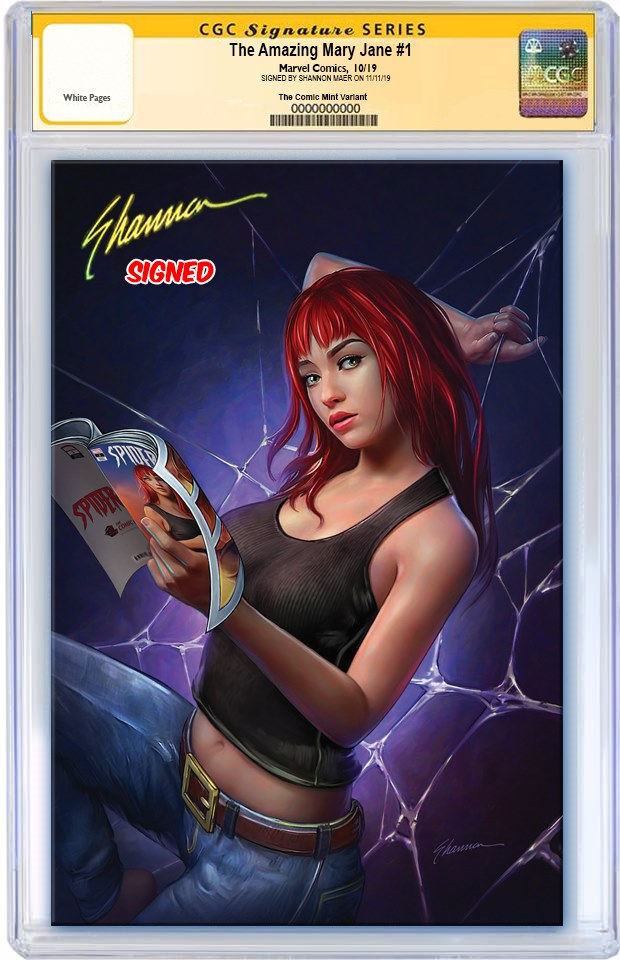 AMAZING MARY JANE #1 SHANNON MAER VIRGIN VARIANT LIMITED TO 600 CGC SS PREORDER