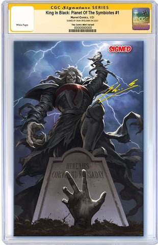 KING IN BLACK PLANET OF SYMBIOTES #1 SKAN SRISUWAN VIRGIN VARIANT LIMITED TO 800 WITH COA CGC SS PREORDER