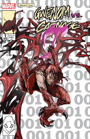 GWENOM VS CARNAGE #1 SKAN SRISUWAN CARNAGIZED MJ ASM 300 HOMAGE TRADE DRESS VARIANT LIMITED TO 3000