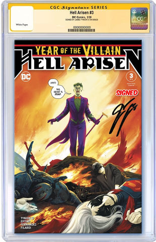 YEAR OF THE VILLAIN HELL ARISEN #3 1ST PRINT CGC SS SIGNED BY JAMES TYNION IV
