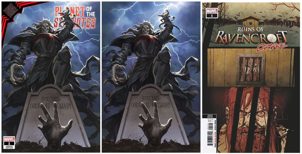 KING IN BLACK PLANET OF SYMBIOTES #1 SKAN SRISUWAN TRADE/VIRGIN VARIANT SET LIMITED TO 800 SETS WITH COA & RAVENCROFT #1 2ND