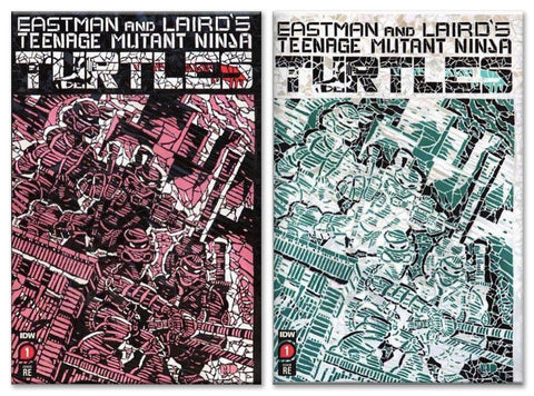 TMNT #1 MATT DIMASI SHATTERED RED/GREEN VARIANT SET LIMITED TO 600 SETS