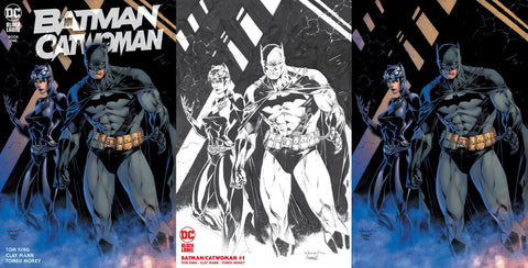 BATMAN CATWOMAN #1 SCOTT WILLIAMS & JIM LEE TRADE DRESS/MINIMAL TRADE SKETCH/VIRGIN VARIANT SET