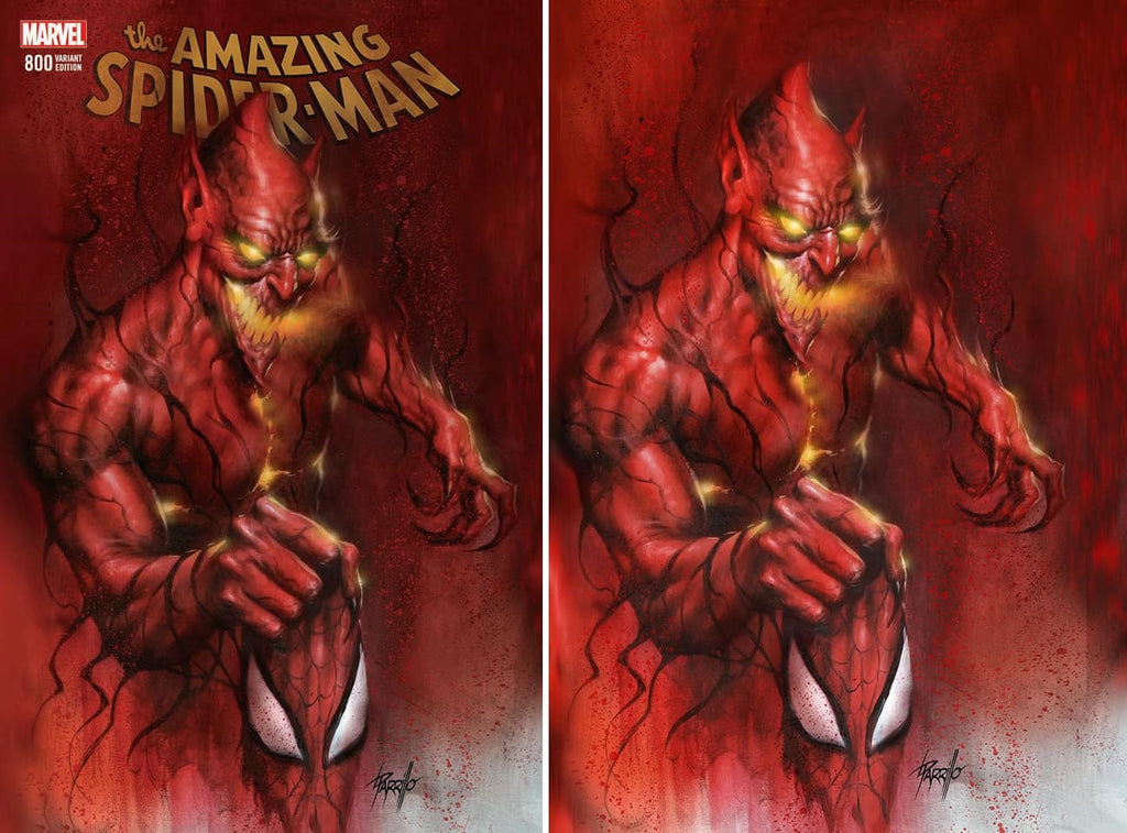 AMAZING SPIDER-MAN #800 LUCIO PARRILLO RED GOBLIN TRADE/VIRGIN VARIANT SET LIMITED TO 700