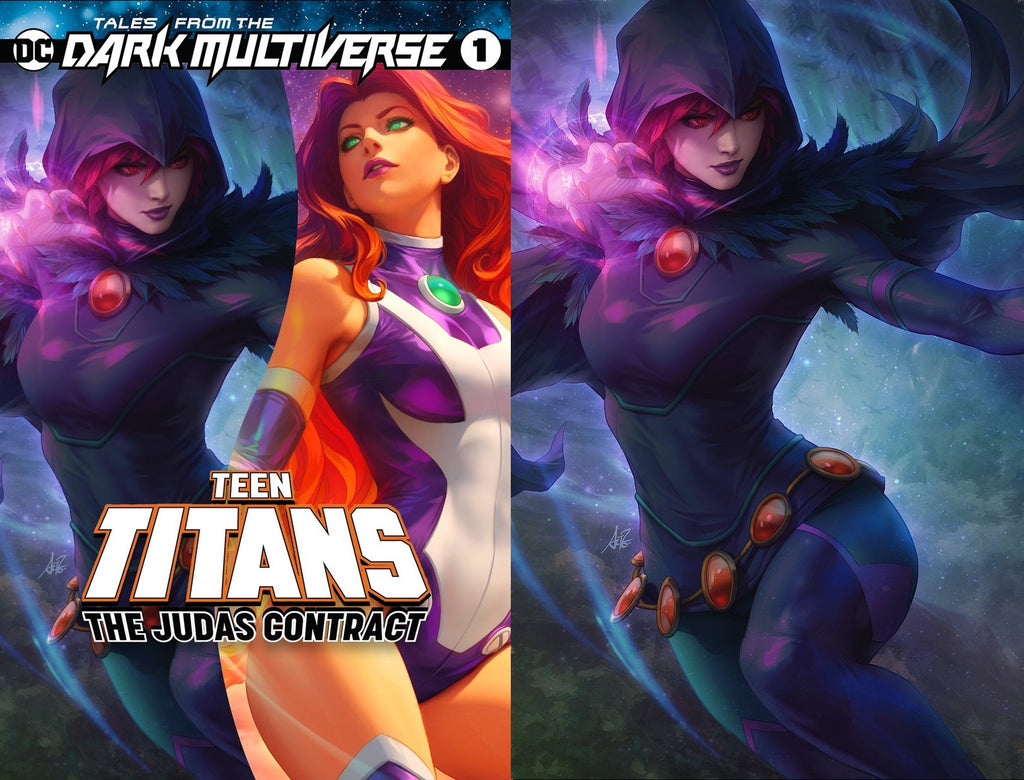 TALES FROM THE DARK MULTIVERSE THE JUDAS CONTRACT #1 ARTGERM TRADE DRESS/RAVEN VIRGIN VARIANT SET