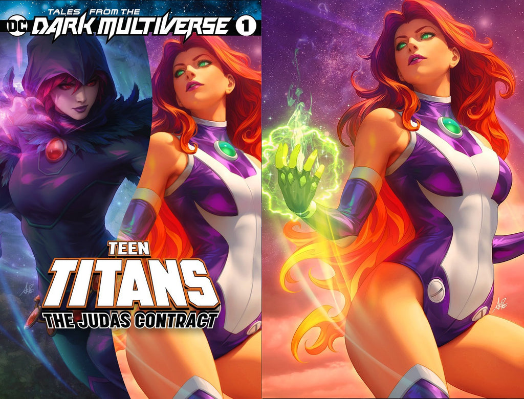 TALES FROM THE DARK MULTIVERSE THE JUDAS CONTRACT #1 ARTGERM TRADE DRESS/STARFIRE VIRGIN VARIANT SET