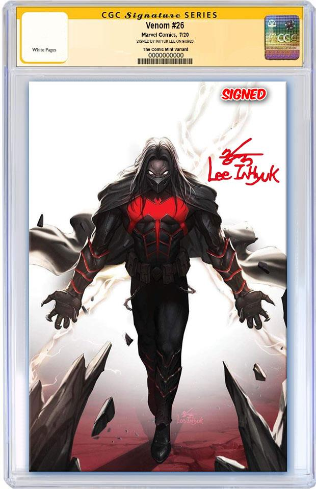 VENOM #26 INHYUK LEE MYSTERY VILLIAN SDCC WEEKEND VIRGIN VARIANT LIMITED TO 1000 CGC SS PREORDER