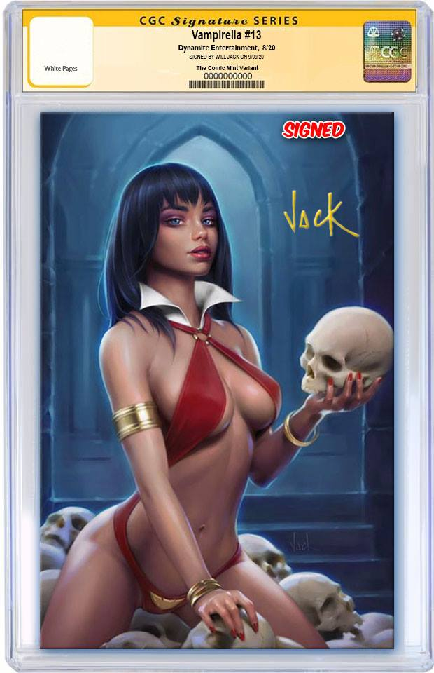 VAMPIRELLA #13 WILL JACK VARIANT LIMITED TO 500 CGC SS PREORDER