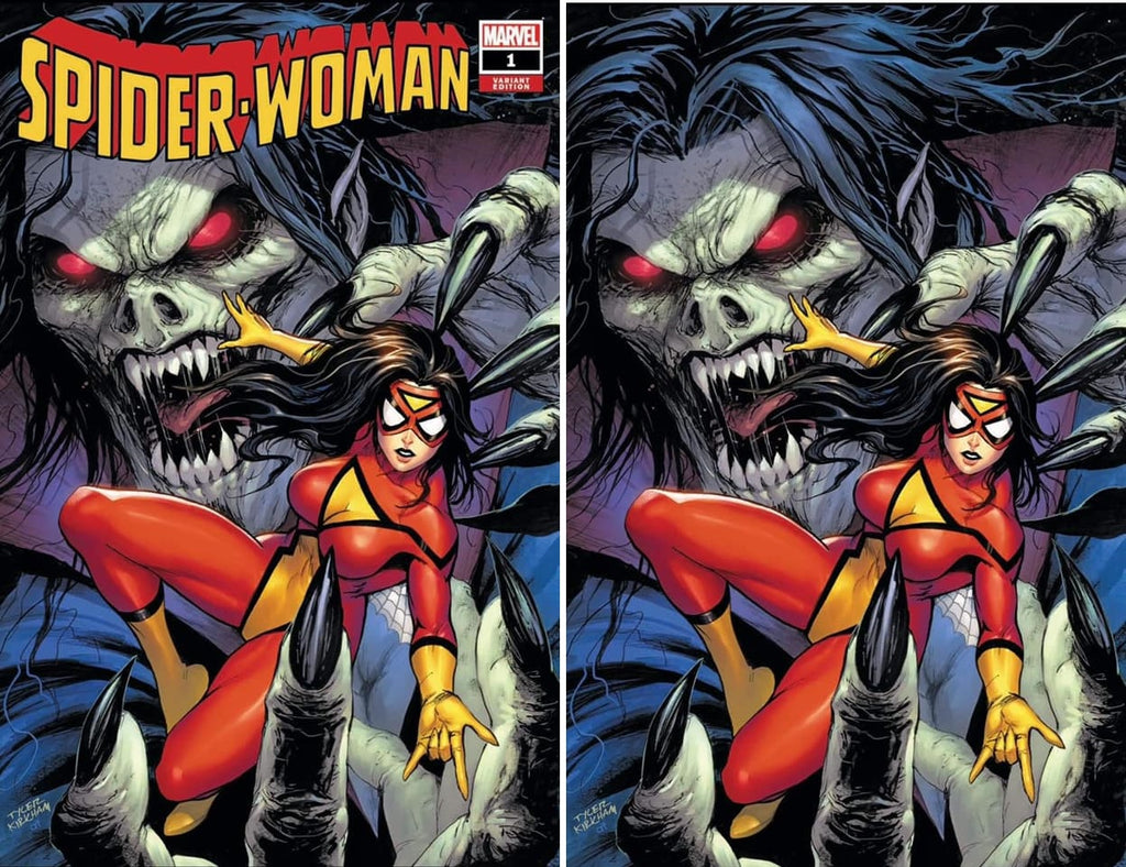 SPIDER-WOMAN #1 TYLER KIRKHAM TRADE DRESS/VIRGIN VARIANT SET