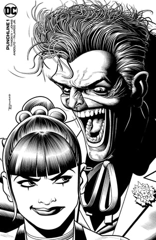 PUNCHLINE SPECIAL #1 BRAIN BOLLAND UK EXCLUSIVE B&W VARIANT LIMITED TO 2500