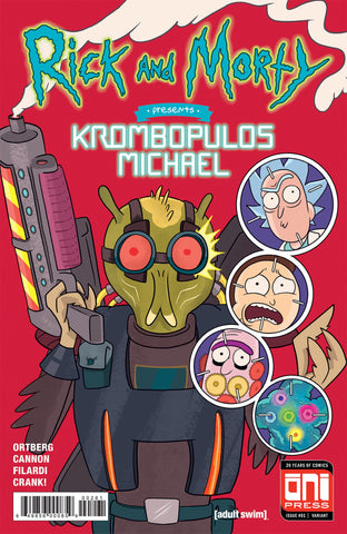 RICK & MORTY PRESENTS KROMBOPULOUS MICHAEL #1 MARC ELLERBY NEW MUTANTS #98 HOMAGE LIMITED TO 1000 REMARKED BY MARC ELLERBY
