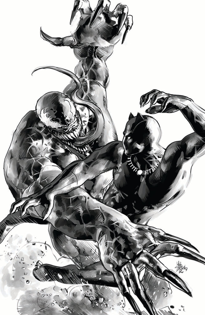 BLACK PANTHER #1 MIKE DEODATO VENOM TRADE/VIRGIN VARIANT SET LIMITED TO 1000 SETS