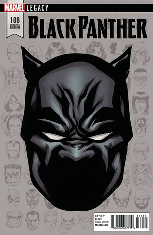 BLACK PANTHER #166 MIKE MCKONE 1:10 LEGACY HEADSHOT VARIANT