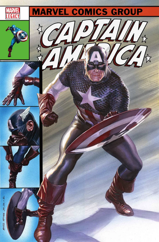 CAPTAIN AMERICA #695 LENTICULAR LEGACY HOMAGE BY ALEX ROSS
