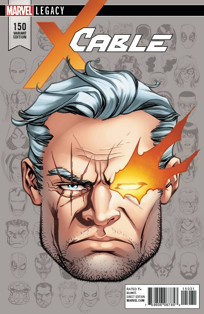 CABLE #150 MIKE MCKONE 1:10 LEGACY HEADSHOT VARIANT