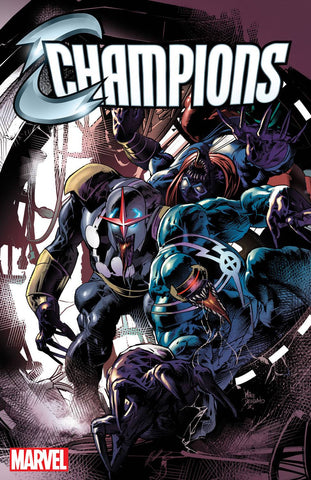 CHAMPIONS #6 MIKE DEODATO VENOMIZED VARIANT - Sad Lemon Comics