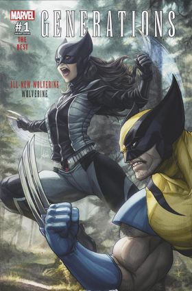 GENERATIONS WOLVERINE & ALL-NEW WOLVERINE #1 STANLEY ARTGERM LAU MEGACON VARIANT