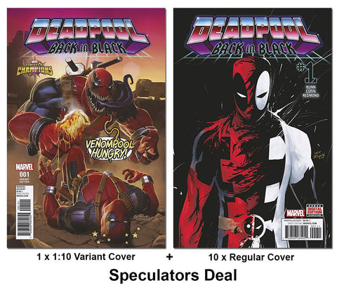 DEADPOOL: BACK IN BLACK #1 10 COPY & 1:10 SPECULATOR LOT - Sad Lemon Comics