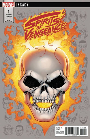 SPIRITS OF VENGEANCE #1 MIKE MCKONE 1:10 LEGACY HEADSHOT VARIANT