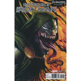 09/2017 INVINCIBLE IRON MAN #11 VENOMIZED DR DOOM VARIANT COVER ADI GRANOV